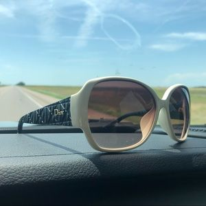 a pair of christian dior's frisson F, sunglasses.
